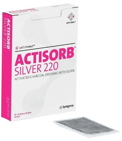 Systagenix Actisorb 220 Activated Charcoal Dressing