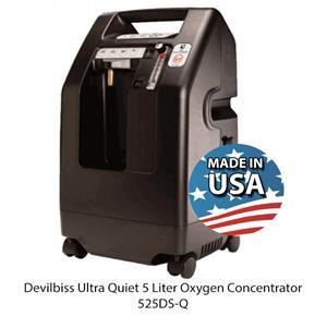 Devilbiss Ultra Quiet Five Liter Compact Oxygen Concentrator