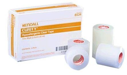 Covidien Kendall Hypoallergenic Clear Tape