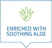Enriched With Soothing Aloe