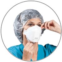 Adjusting the 3M surgical mask