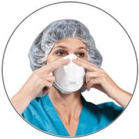 Sealing the particulate respirator