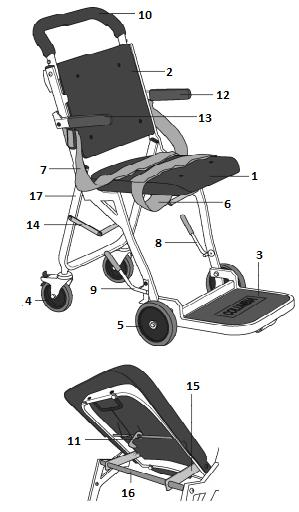 Columbia SkyMaster Folding Airline Transfer Chair