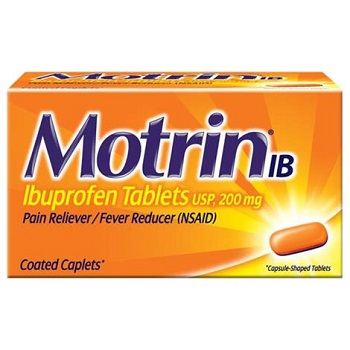 Motrin IB Ibuprofen Pain Reliever Caplets