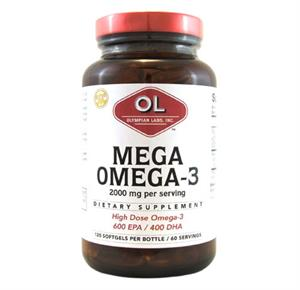 Olympian Labs Mega Omega-3 Fish Oils Dietary Supplement