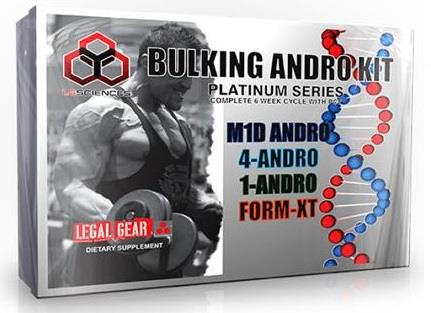 LG Sciences Bulking Andro Dietary Supplement Kit