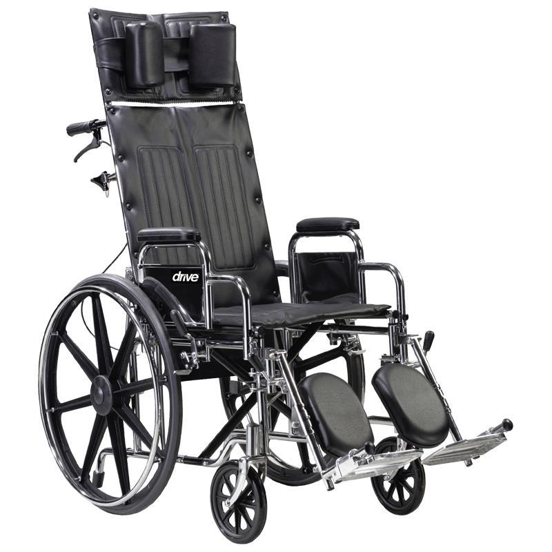 Drive Deluxe Sentra Full Reclining Dual Axle Wheelchair