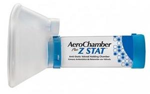 Monaghan Aerochamber Plus Z STAT Anti-Static Valved Holding Chamber With Large ComfortSeal Mask