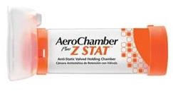 Monaghan AeroChamber Plus Z STAT Anti-Static Valved Holding Chamber With ComfortSeal Small Mask
