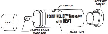 Fabrication Point Relief Battery Powered Mini Massager