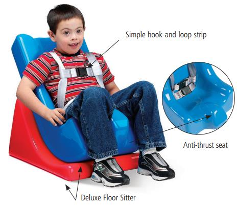 Tumble Forms 2 Deluxe Blue Floor Sitter