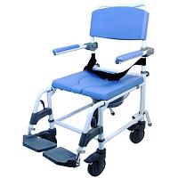 Healthline Ezee Life Rehab Shower Commode Chair - 15 Inch Seat