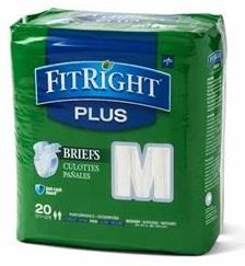 Medline FitRight Plus Cloth Like Adult Briefs