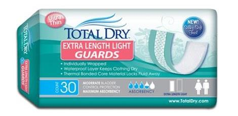 Secure Personal Care TotalDry Extra Length Light Incontinence Guard