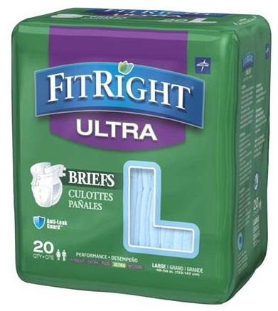Medline FitRight Ultra Adult Briefs