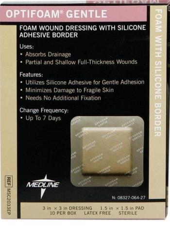 Medline Optifoam Gentle Silicone Border Dressing