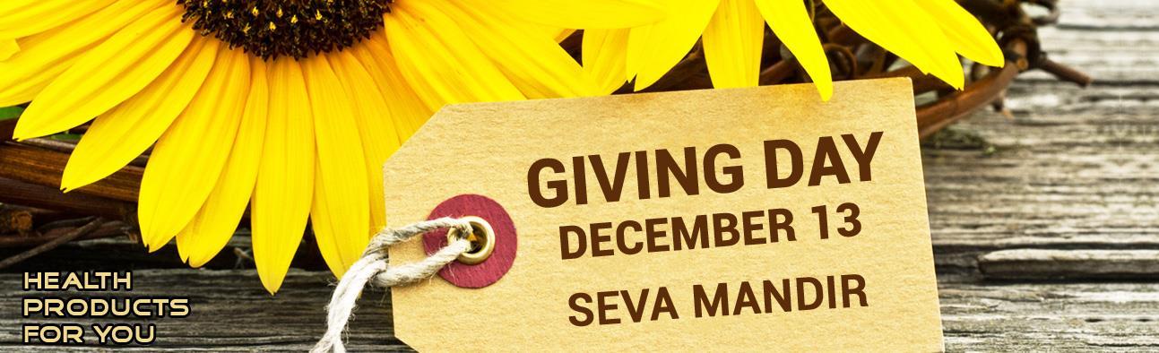 Giving Day - December 13 - Seva Mandir