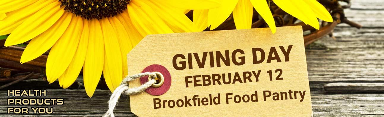 Giving Day - February 12 - Brookfield Food Pantry
