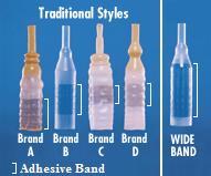 Rochester WideBand Self Adhering Male External Catheter