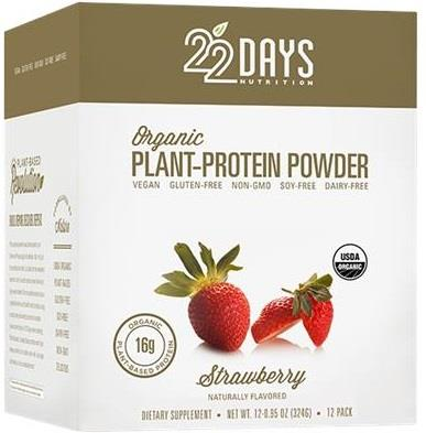 22 Days Strawberry Organic Plant Protein Powder