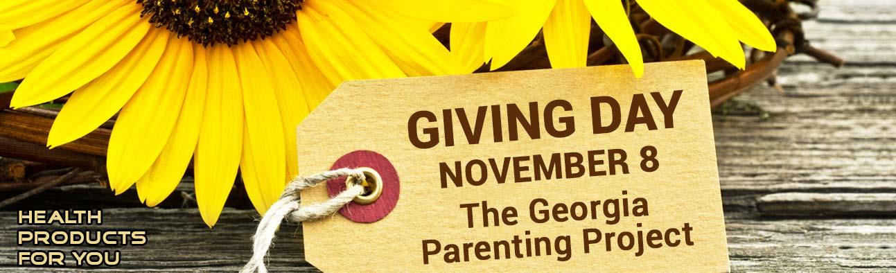 Giving Day - November 8 - The Georgia Parenting Project
