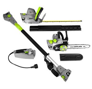 Earthwise 4-in-1 Multi-Tool Pole with Handheld Hedge Trimmer Pole and Handheld Chain Saw