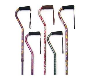 Essential Medical Designer Aluminum Offset Cane